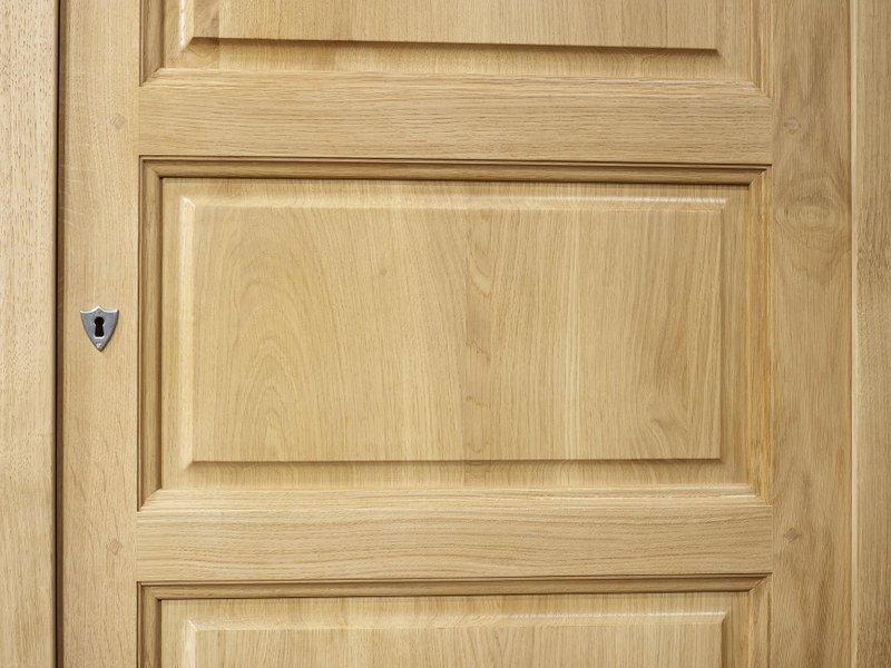 Armario samuel 1 puerta hecho de madera maciza de roble for Armario madera natural