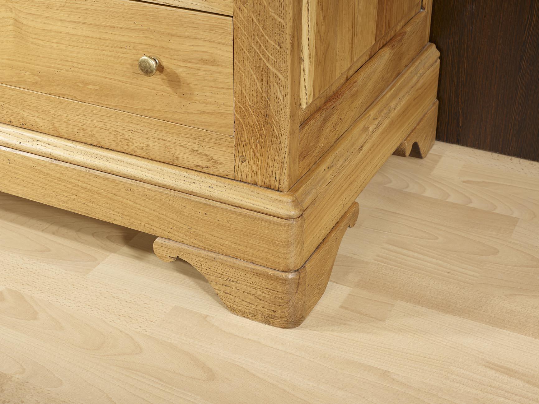 Mueble de tv 16 9 borga hecho en madera de roble macizo - Muebles de madera de roble ...