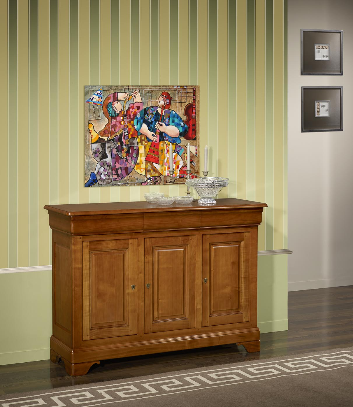 Adesivos De Natal Unhas ~ Aparador Buffet 3 puertas Charlotte hecha en cerezo macizo estilo Louis Philippe , meuble en