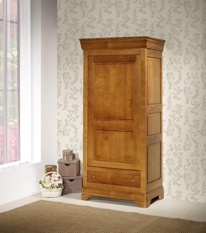 Armario 1 puerta 1 cajón Sophie, realizada en madera maciza de ...
