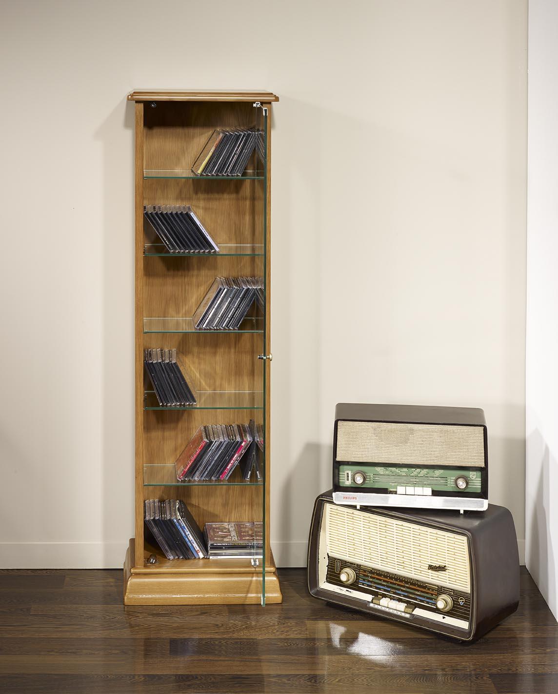 Pmc115 mueble torre cd dvd hecho de roble macizo estilo - Mueble para dvd ...