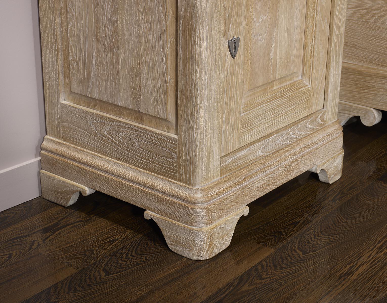Mesa de cabecera Hugo 1 puerta 1 cajón hecho en roble sólido estilo ...