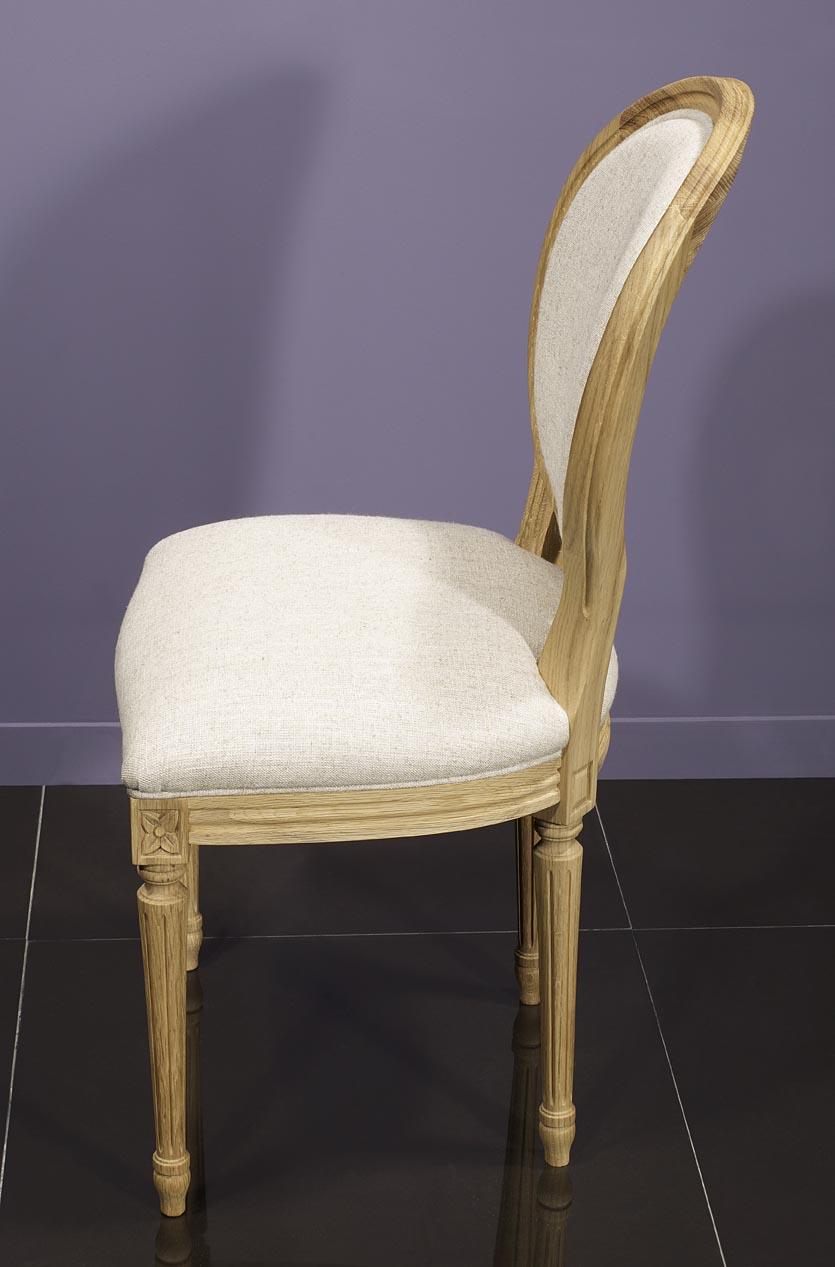 Simon silla de madera de roble s lido estilo luis xvi - Silla estilo luis xvi ...
