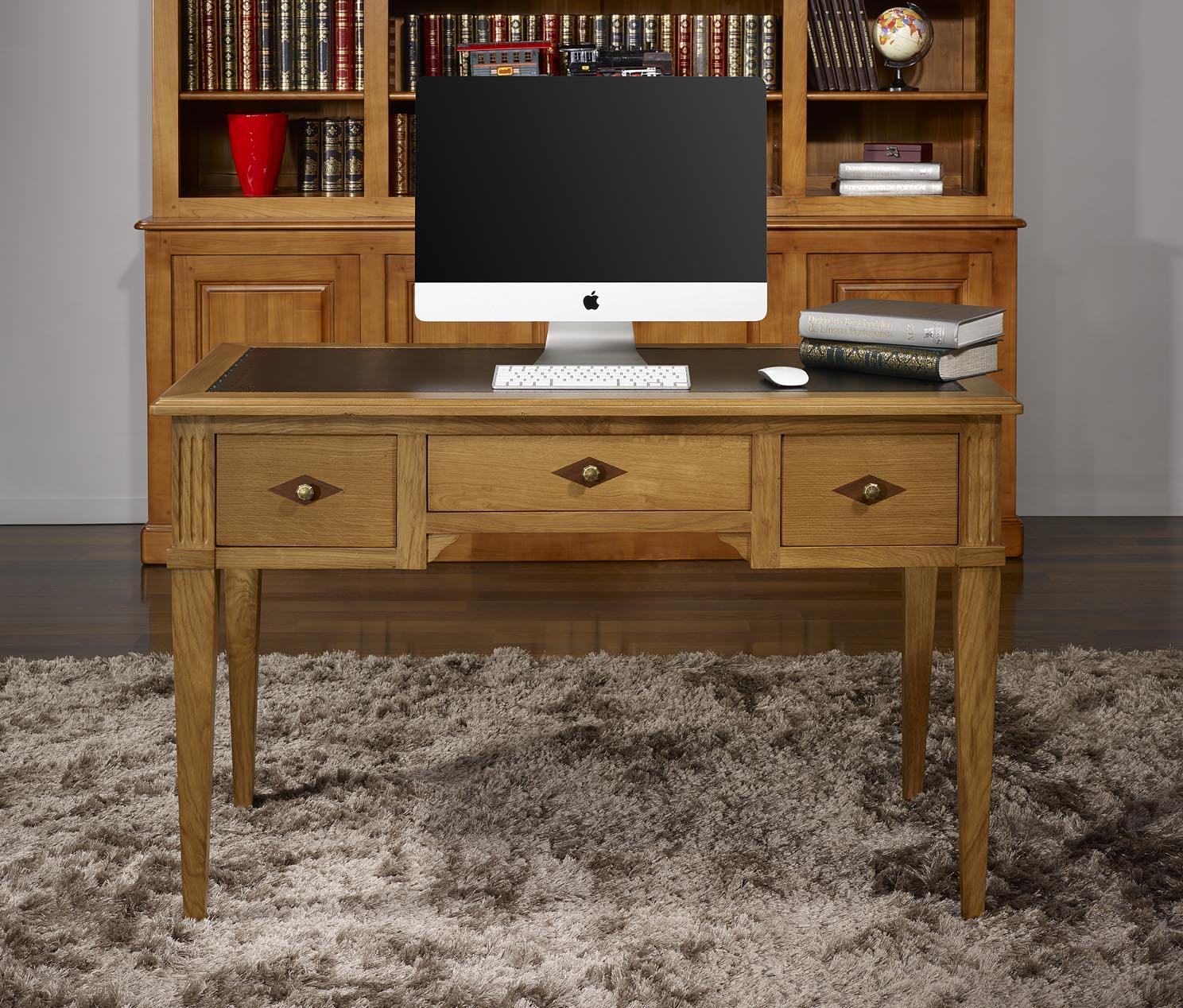 Mesa escritorio/oficina Herminio con 3 cajones realizada en madera ...