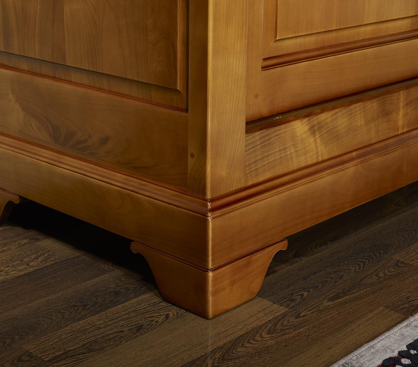 Armario de 2 puertas correderas hecho en cerezo macizo estilo louis philippe meuble en merisier - Ajustar puertas armario ...
