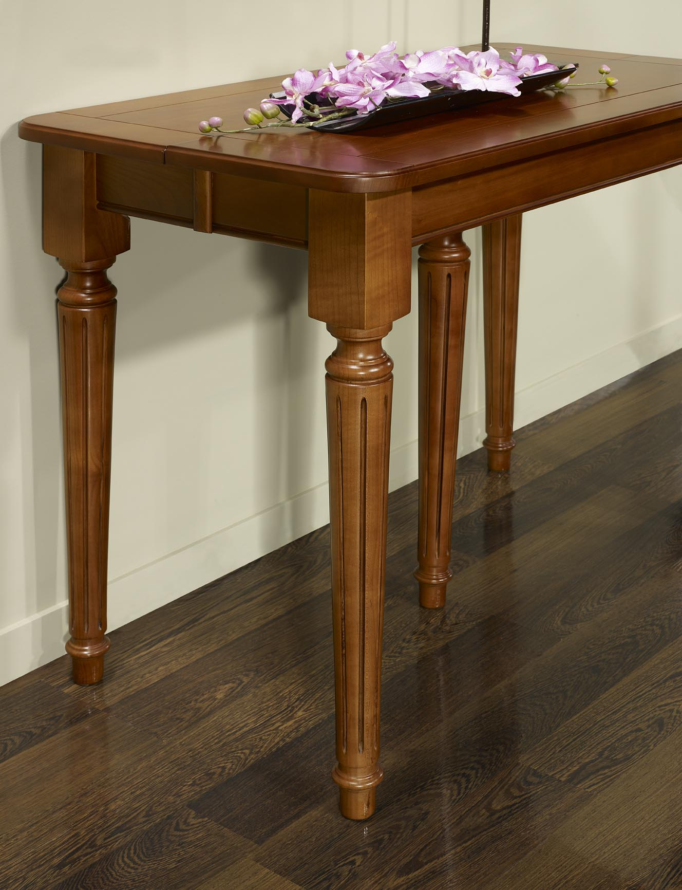 Table Bois Extensible Table De Repas 190 Cm En Bois Ch Ne Gris  ~ Table Console Extensible En Bois Massif
