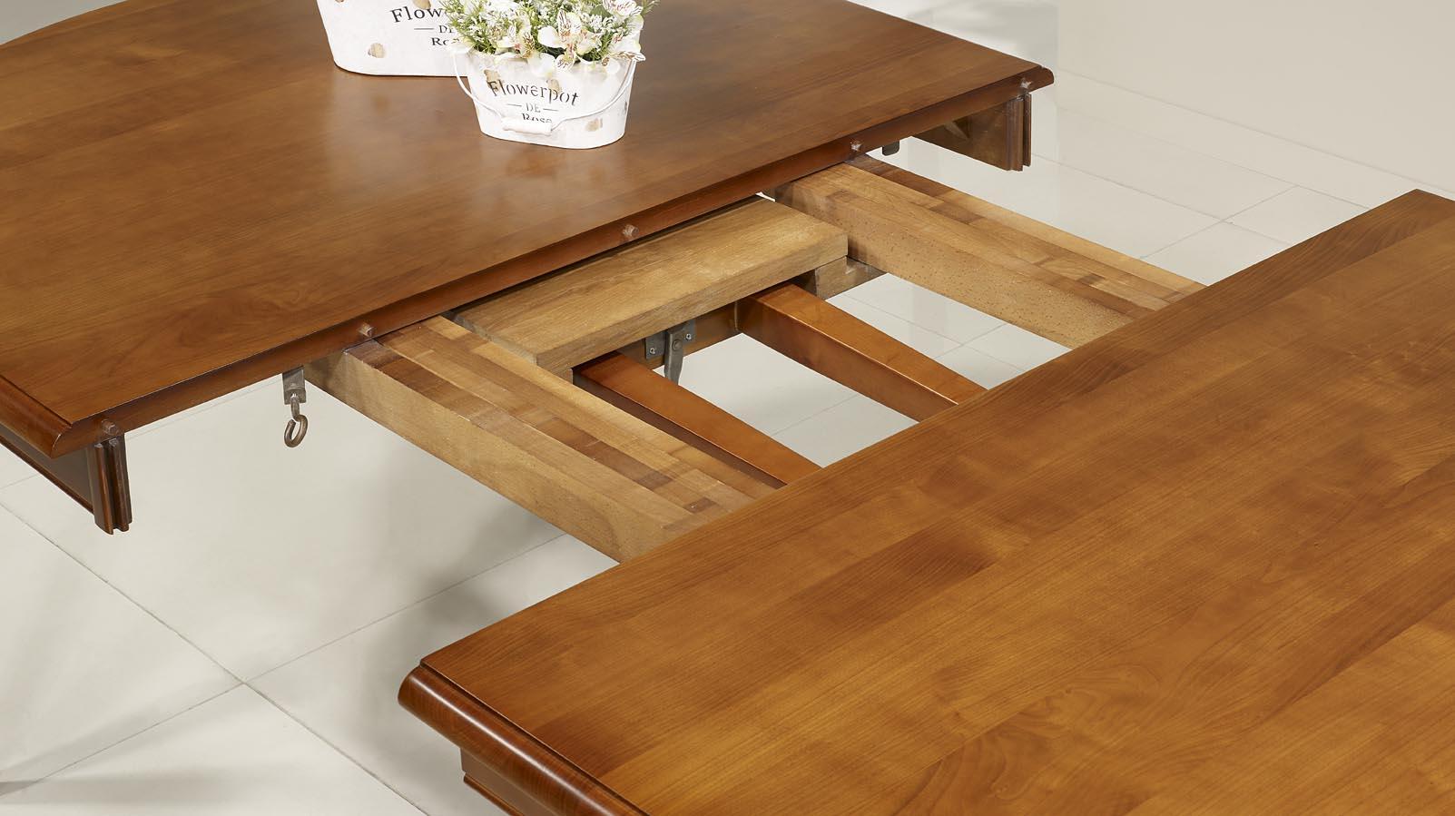 Mesa de comedor ovalada Julie hecha en madera maciza de cerezo ...
