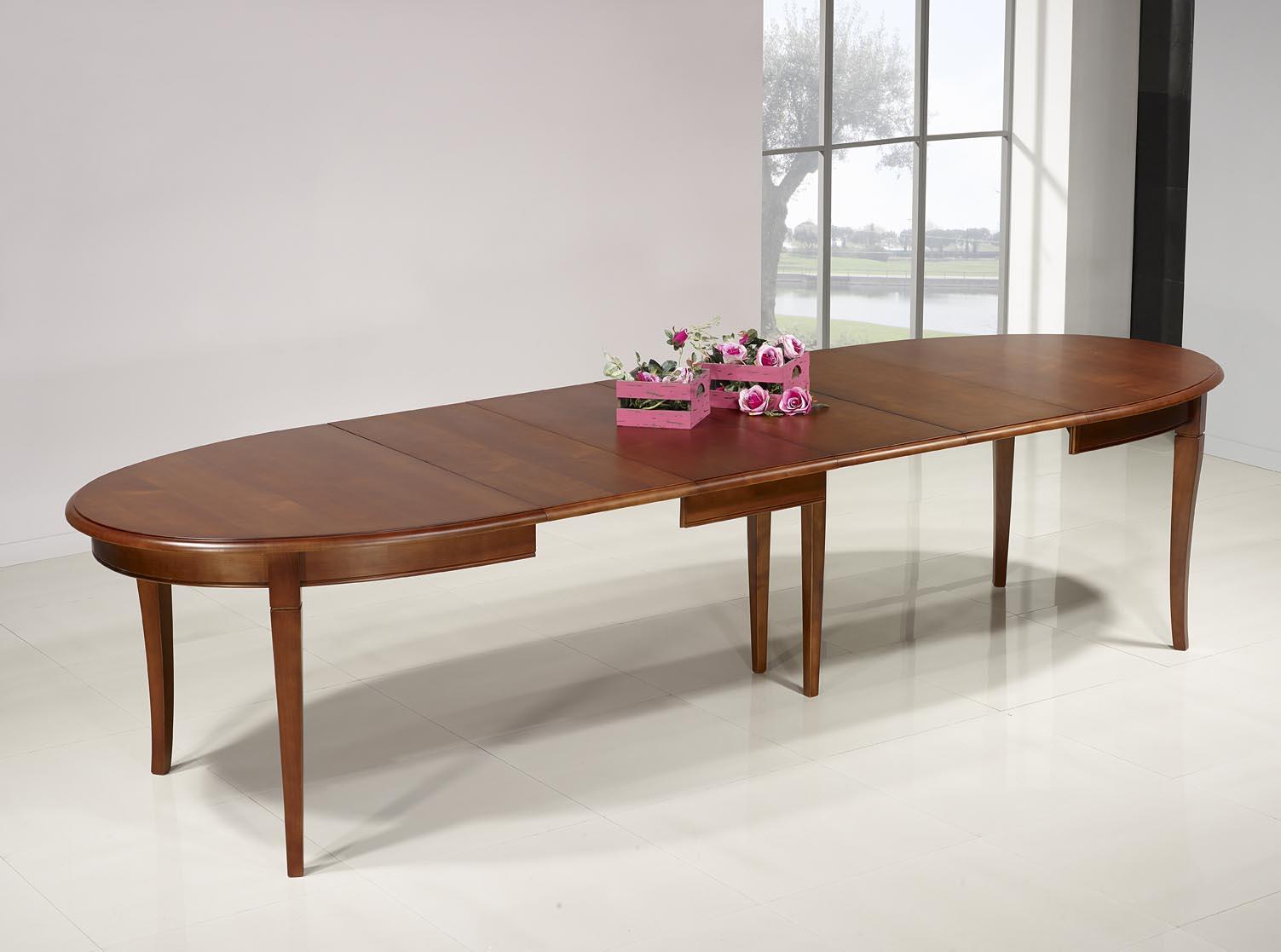 Mesa de comedor ovalada estelle hecha en madera maciza de for Mesa comedor cerezo