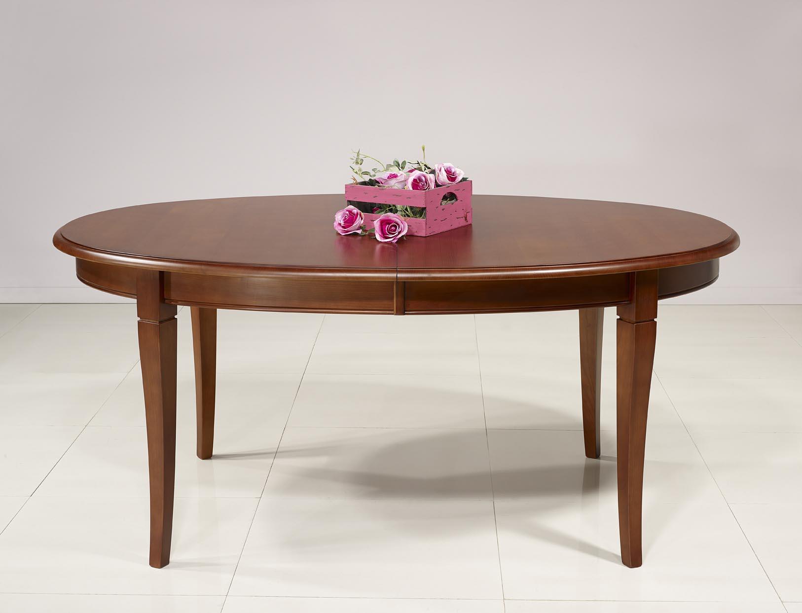 mesa de comedor ovalada estelle hecha en madera maciza de