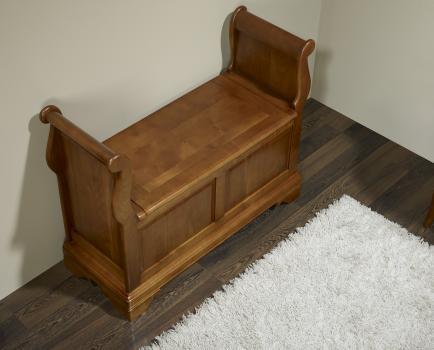 Banco arc n sonia de cerezo macizo estilo louis philippe for Banco arcon madera