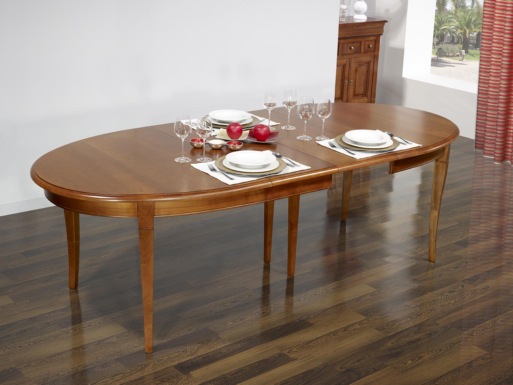 Mesas de comedor ovaladas juego de comedor vesta mesa for Comedor wood trendy