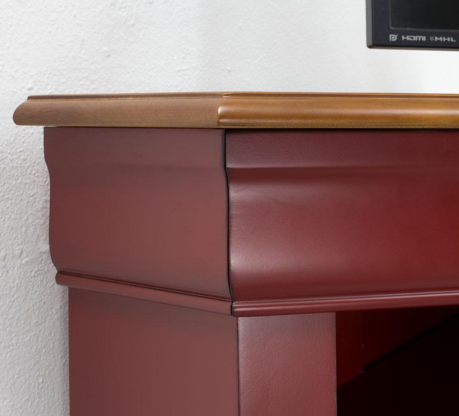 Mueble de esquina de tv con 2 puertas hecho en madera for Mueble para tv con puertas