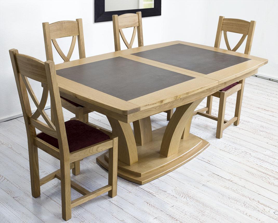 Mesa De Comedor Moderna De Madera De Roble Maciza Con Acabado  ~ Mesas De Comedor Madera Natural
