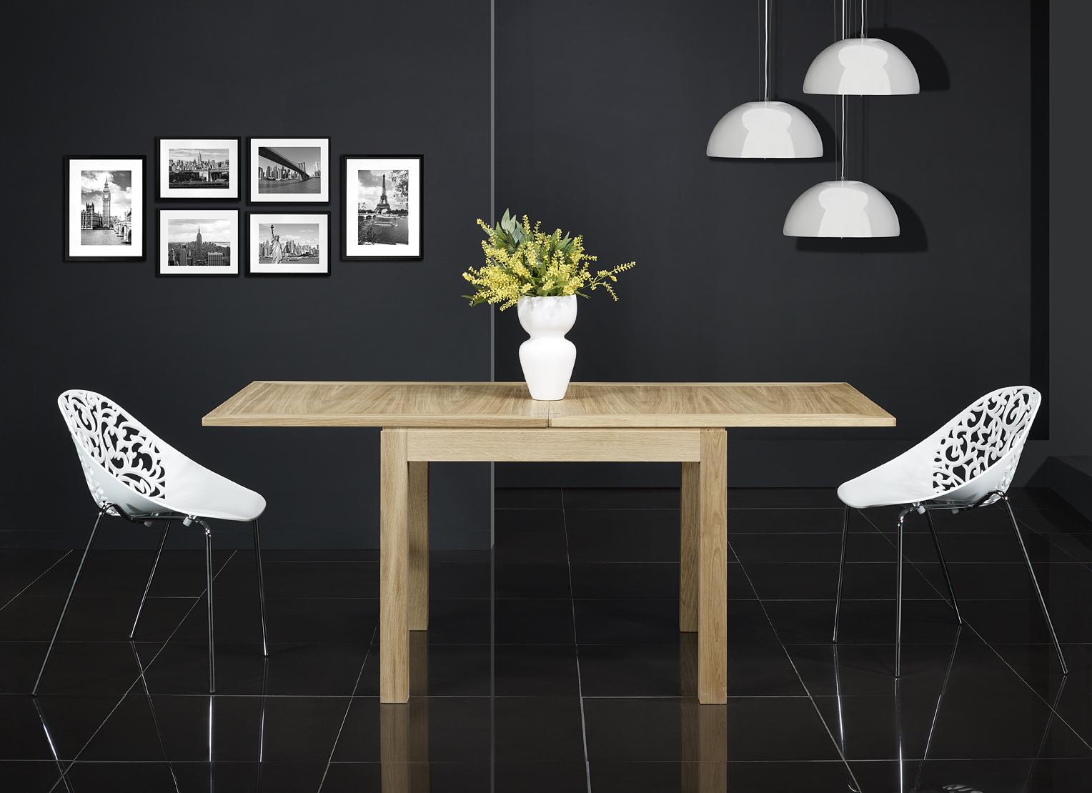 Mc113 mesa de comedor 90x90 hecha en roble macizo estilo for Mesa comedor 90x90