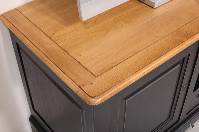 Mueble de TV 16/9 Paulo hecho en madera de Roble macizo estilo Louis ...