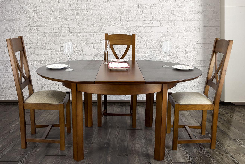 Mesa redonda Emilia realiza en Cerezo macizo bandeja de cerámica ...