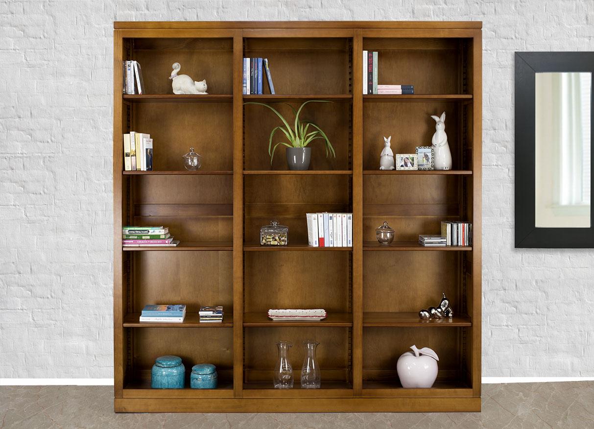 Librer a silvia l nea contempor nea hecha de madera maciza - Libreria de madera ...
