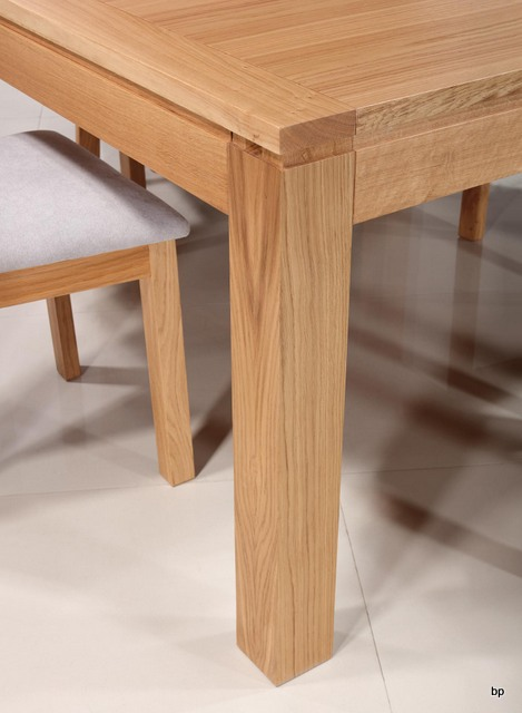 Mesa de comedor cuadrada en madera de roble macizo 140x140 estilo ...
