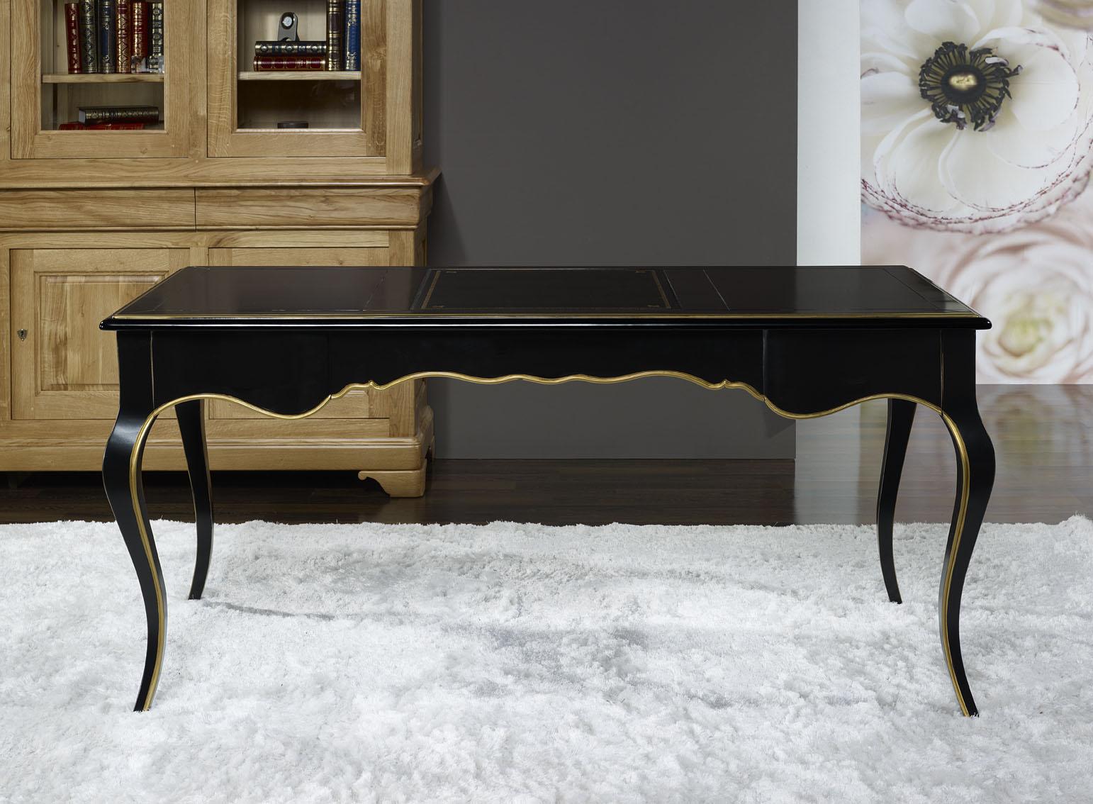 Mesa escritorio Lucio realizado en madera de Cerezo macizo estilo
