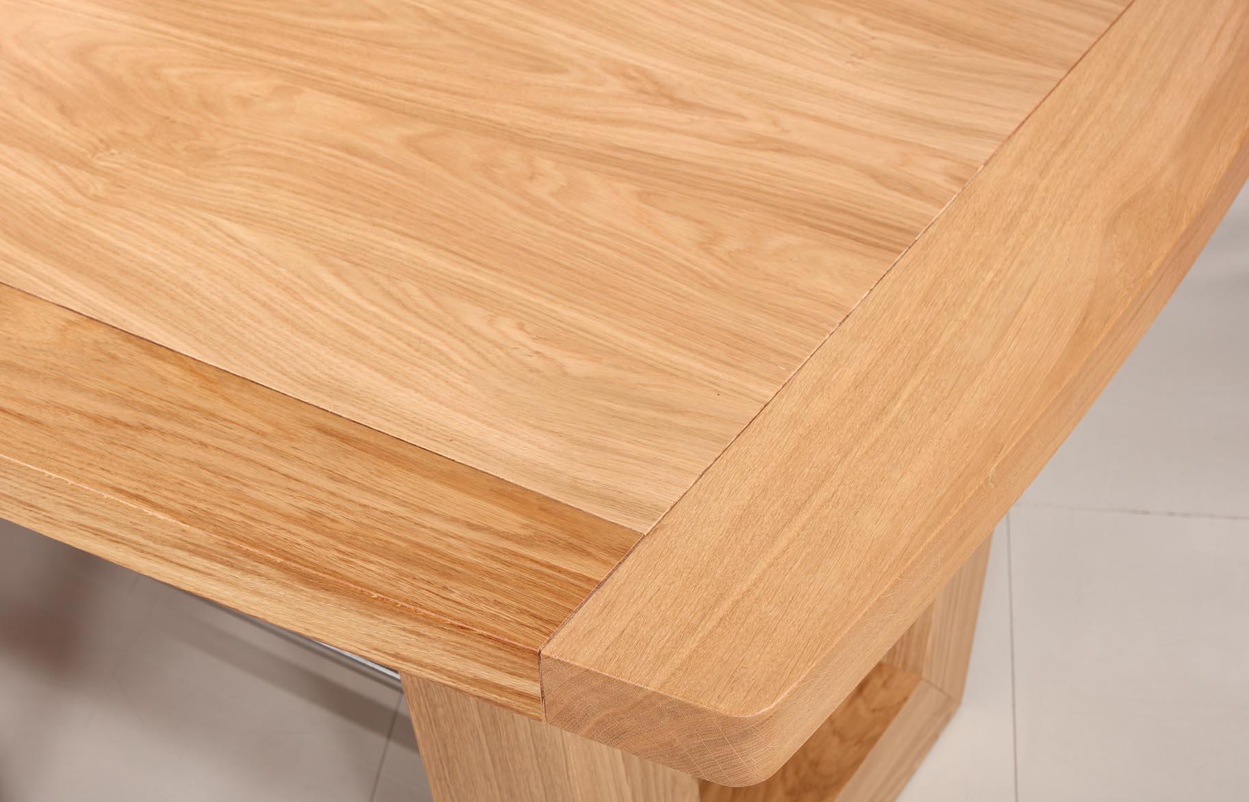 C57 Mesa rectangular 220x110 en madera de roble maciza línea ...