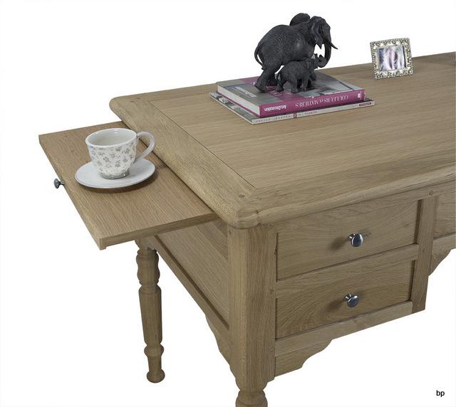 Pmc191 mesa escritorio lucas con 5 cajones hecha en roble for Mesa escritorio con cajones