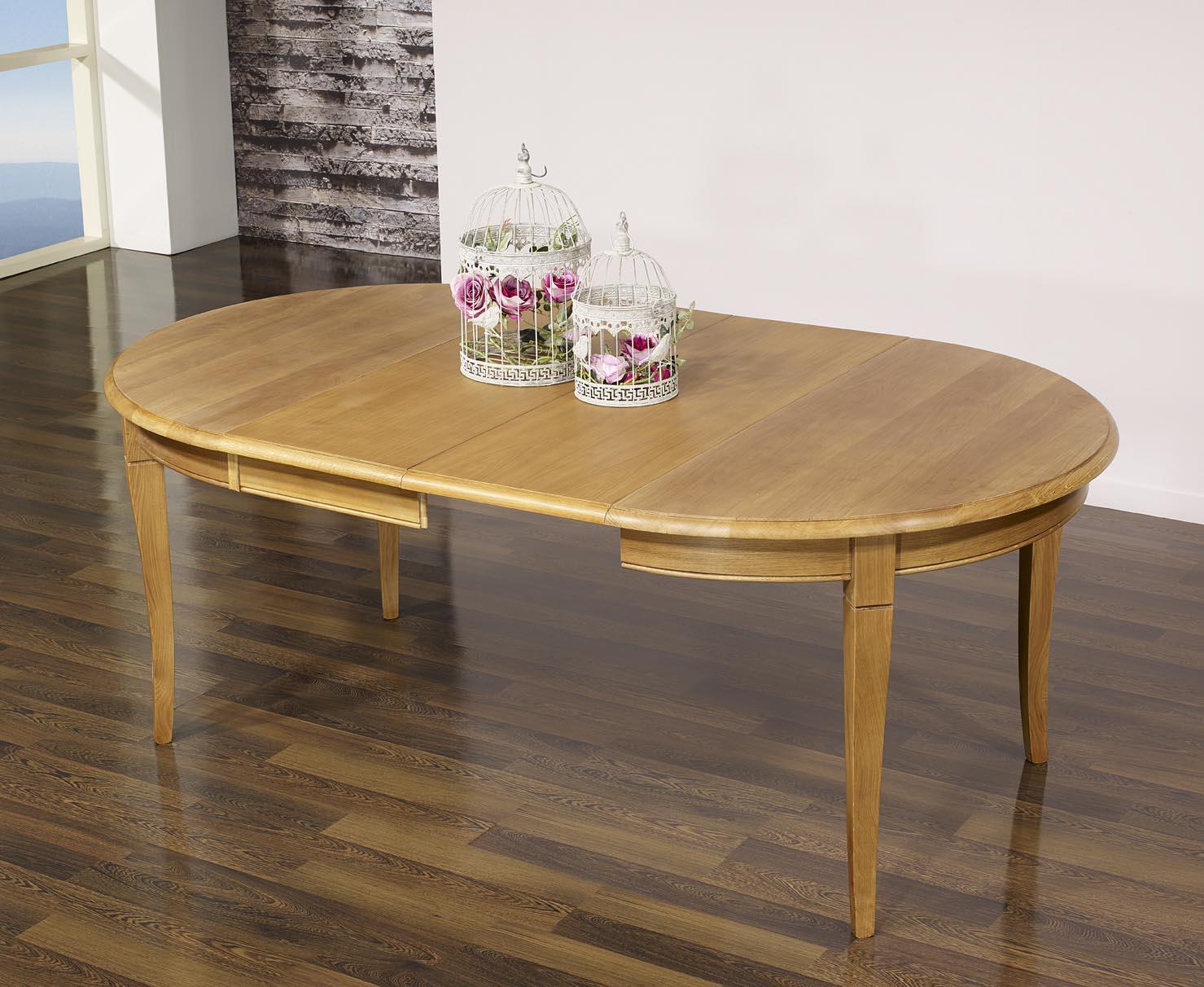 mesa redonda fabiane hecha en madera maciza de roble estilo louis philippe dimetro