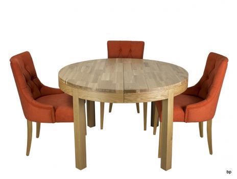 Mesas Redondas Muebles de madera maciza, madera de roble y abedul