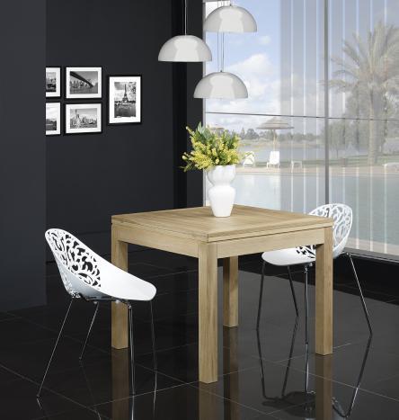 mesas cuadradas Muebles de madera maciza, madera de roble y abedul