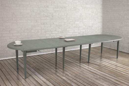 mesa redonda dimetro con abas abatibles de roble macizo estilo louis philippe extensiones de